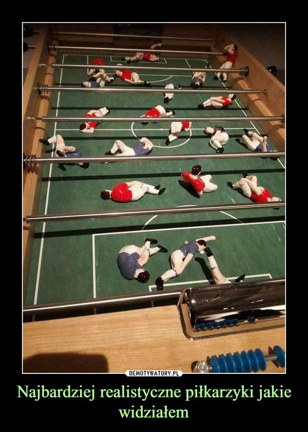 Najbardziej realistyczne piłkarzyki jakie widziałem –