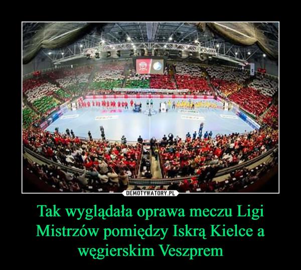 Tak wyglądała oprawa meczu Ligi Mistrzów pomiędzy Iskrą Kielce a węgierskim Veszprem –