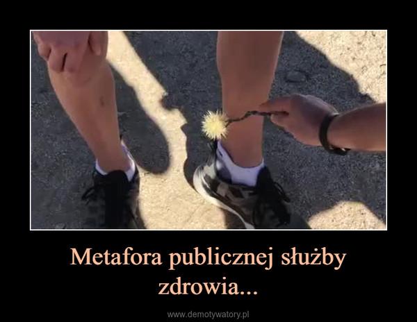 Metafora publicznej służby zdrowia... –