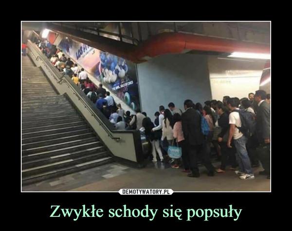 Zwykłe schody się popsuły –