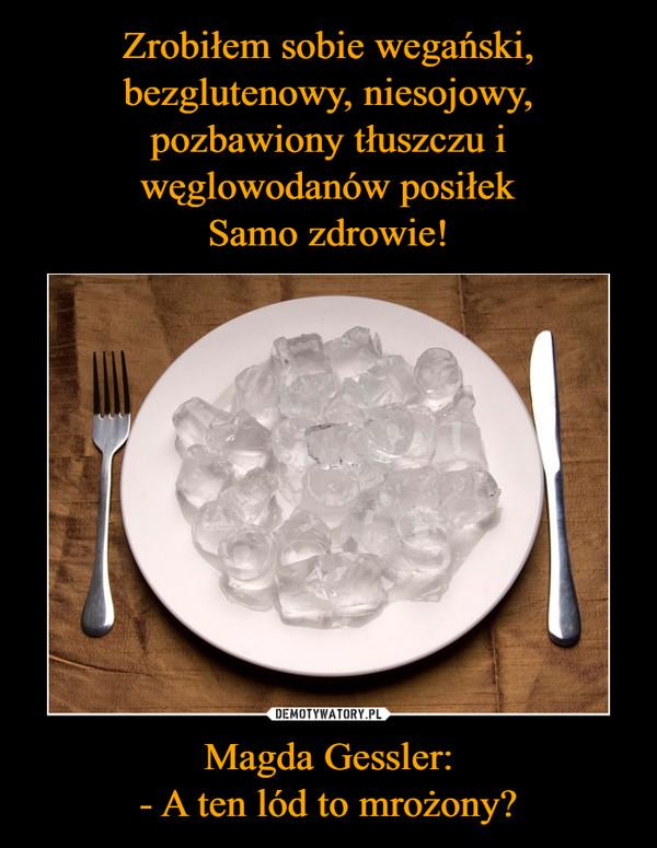 Magda Gessler:- A ten lód to mrożony? –