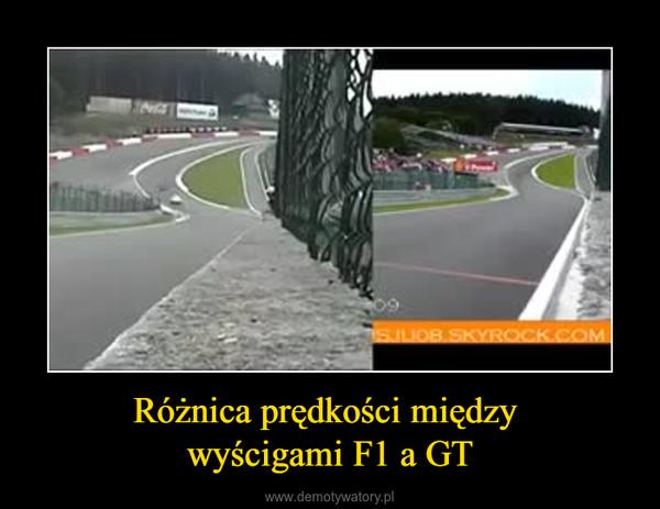 Różnica prędkości między wyścigami F1 a GT –