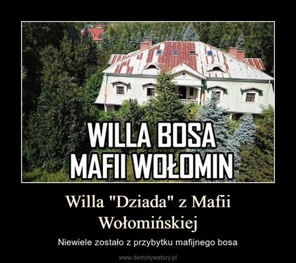"""Willa """"Dziada"""" z Mafii Wołomińskiej – Niewiele zostało z przybytku mafijnego bosa"""