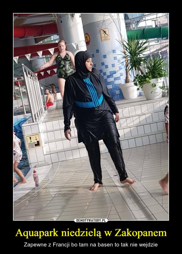 Aquapark niedzielą w Zakopanem – Zapewne z Francji bo tam na basen to tak nie wejdzie