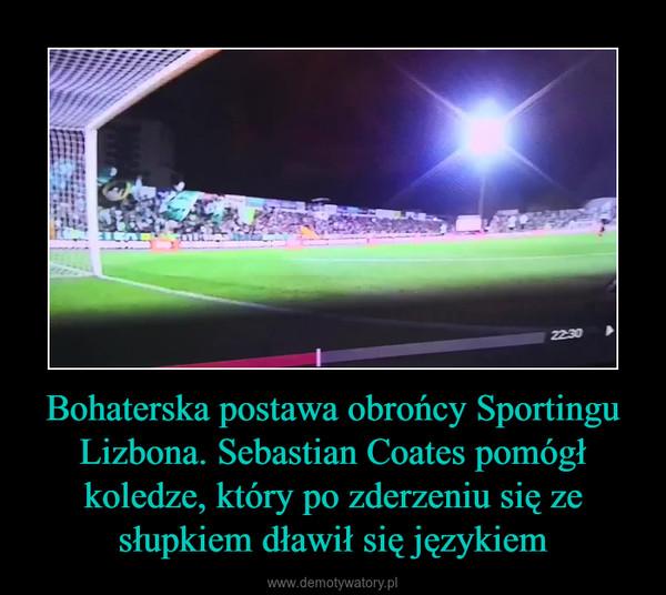 Bohaterska postawa obrońcy Sportingu Lizbona. Sebastian Coates pomógł koledze, który po zderzeniu się ze słupkiem dławił się językiem –