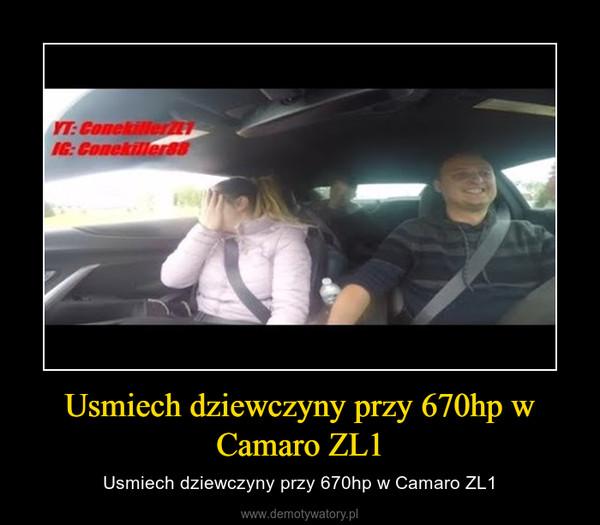 Usmiech dziewczyny przy 670hp w Camaro ZL1 – Usmiech dziewczyny przy 670hp w Camaro ZL1