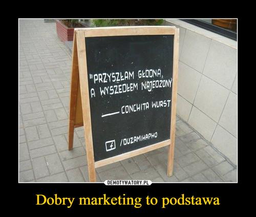 Dobry marketing to podstawa