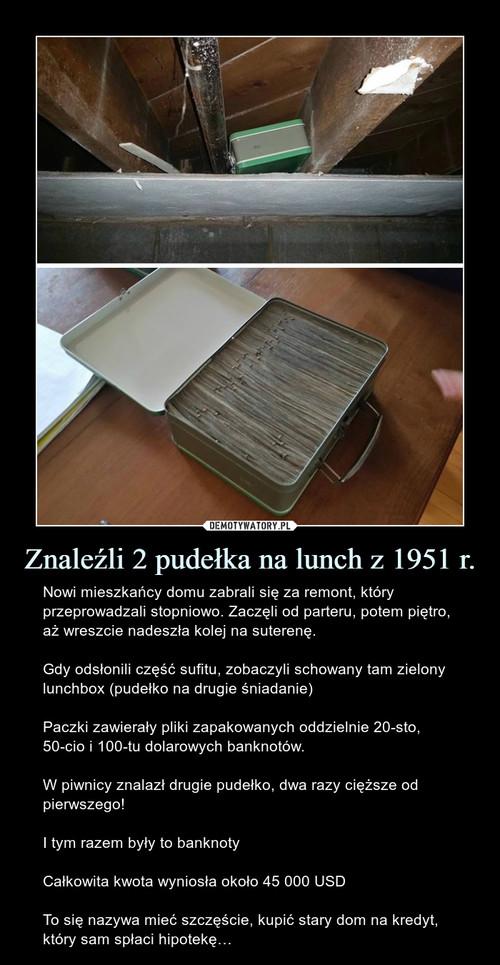 Znaleźli 2 pudełka na lunch z 1951 r.