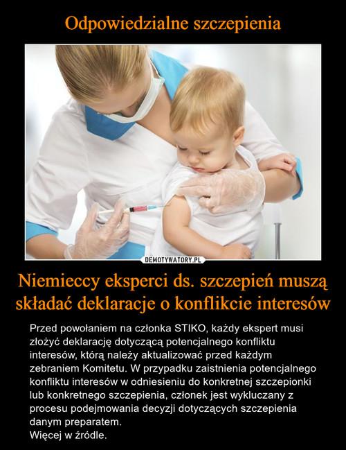 Odpowiedzialne szczepienia Niemieccy eksperci ds. szczepień muszą składać deklaracje o konflikcie interesów