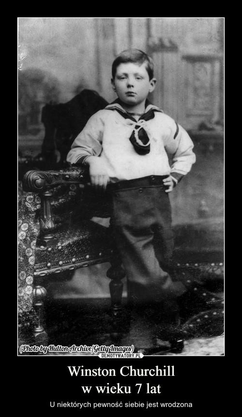 Winston Churchill w wieku 7 lat