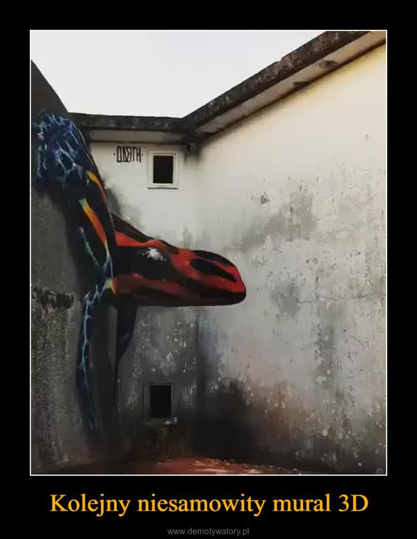 Kolejny niesamowity mural 3D –