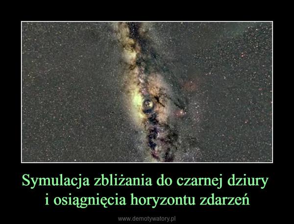 Symulacja zbliżania do czarnej dziury i osiągnięcia horyzontu zdarzeń –