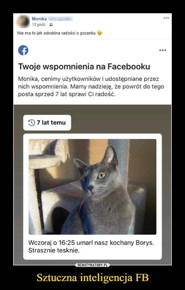 Sztuczna inteligencja FB –