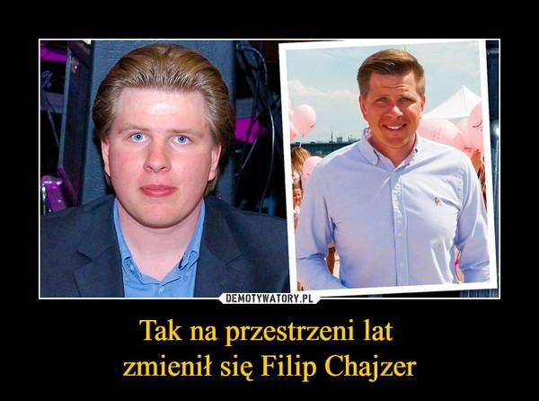 Tak na przestrzeni lat zmienił się Filip Chajzer –