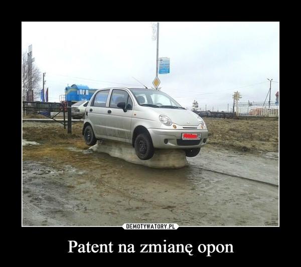 Patent na zmianę opon –