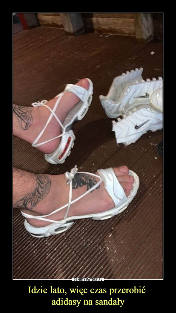 Idzie lato, więc czas przerobić adidasy na sandały –
