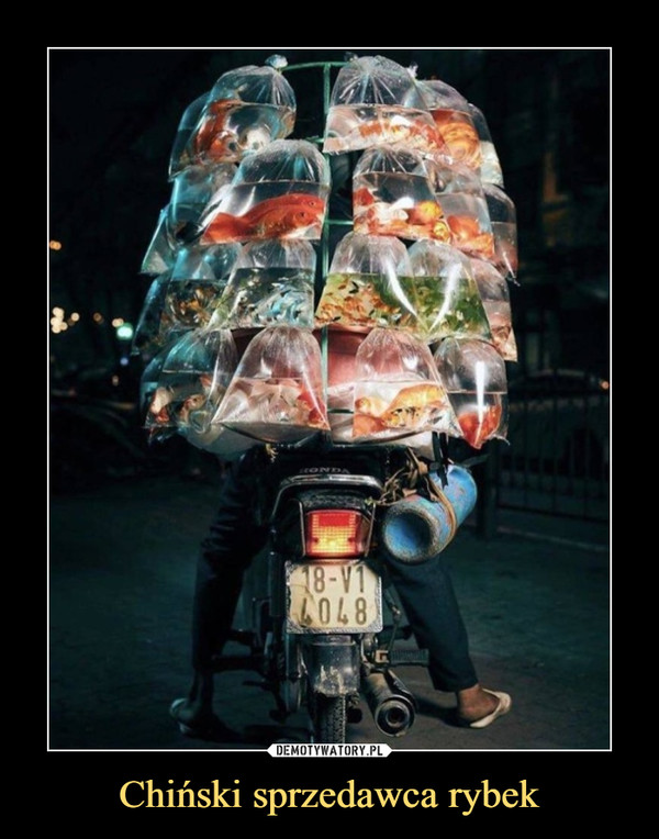 Chiński sprzedawca rybek –