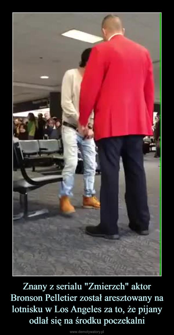 """Znany z serialu """"Zmierzch"""" aktor Bronson Pelletier został aresztowany na lotnisku w Los Angeles za to, że pijany odlał się na środku poczekalni –"""