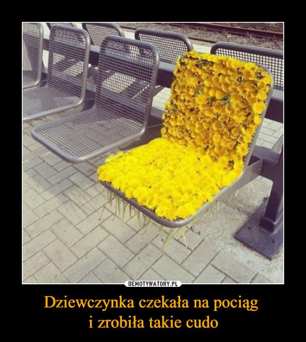 Dziewczynka czekała na pociąg i zrobiła takie cudo –