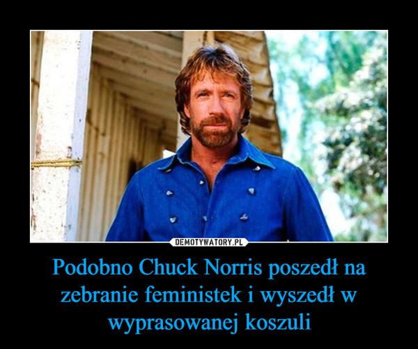 Podobno Chuck Norris poszedł na zebranie feministek i wyszedł w wyprasowanej koszuli –