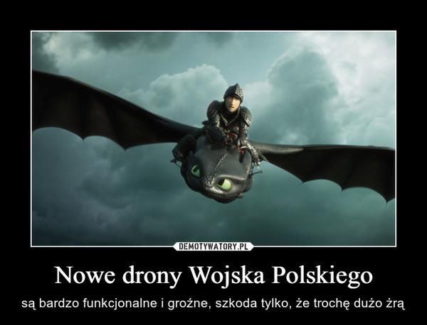 Nowe drony Wojska Polskiego – są bardzo funkcjonalne i groźne, szkoda tylko, że trochę dużo żrą