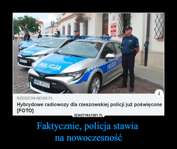 Faktycznie, policja stawia na nowoczesność –  RZESZOW-NEWS Pl Hybrydowe radiowozy dla rzeszowskiej policji już poświęcone [FOTO]