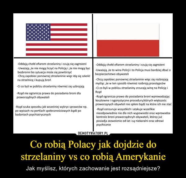 Co robią Polacy jak dojdzie do strzelaniny vs co robią Amerykanie – Jak myślisz, których zachowanie jest rozsądniejsze?