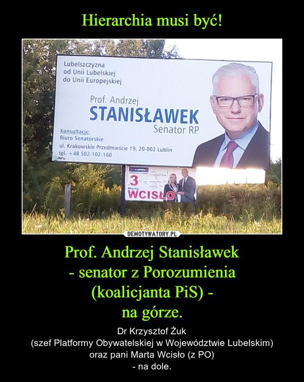 Prof. Andrzej Stanisławek- senator z Porozumienia(koalicjanta PiS) -na górze. – Dr Krzysztof Żuk(szef Platformy Obywatelskiej w Województwie Lubelskim)oraz pani Marta Wcisło (z PO)- na dole.