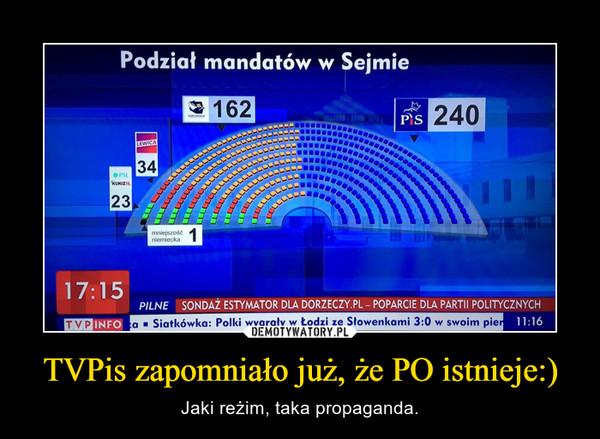 TVPis zapomniało już, że PO istnieje:) – Jaki reżim, taka propaganda.