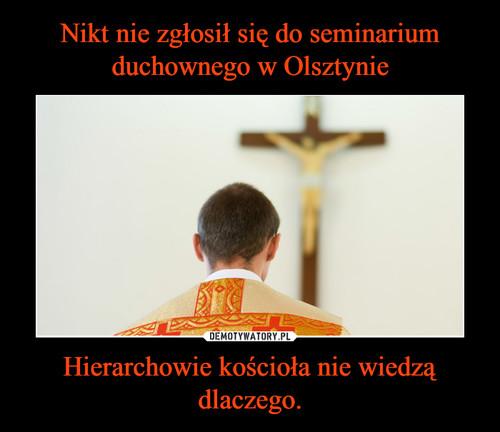 Nikt nie zgłosił się do seminarium duchownego w Olsztynie Hierarchowie kościoła nie wiedzą dlaczego.