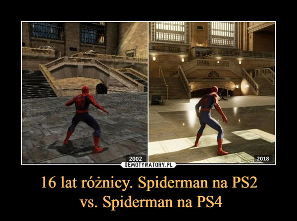 16 lat różnicy. Spiderman na PS2 vs. Spiderman na PS4 –