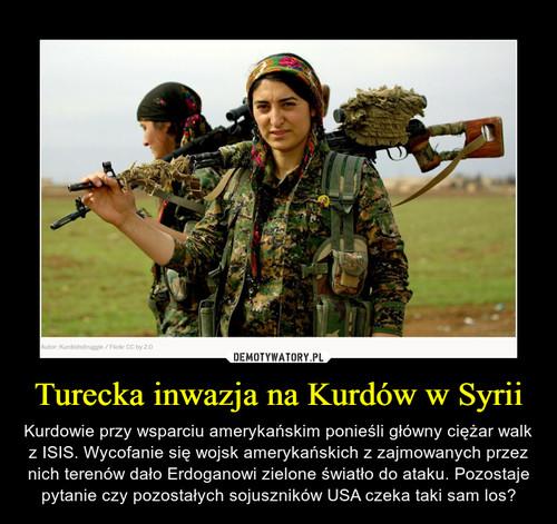 Turecka inwazja na Kurdów w Syrii