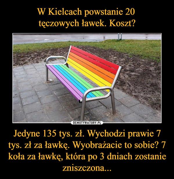 Jedyne 135 tys. zł. Wychodzi prawie 7 tys. zł za ławkę. Wyobrażacie to sobie? 7 koła za ławkę, która po 3 dniach zostanie zniszczona... –