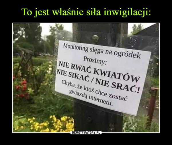 –  Monitoring sięga na ogródek Prosimy: NIE RWAĆ KWIATÓW NIE SIKAĆ / NIE SRAĆ! Chyba, że ktoś chce zostać gwiazdą internetu.