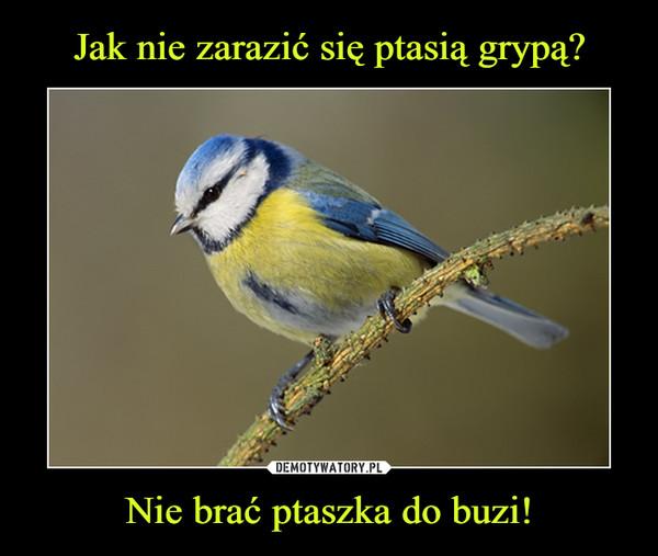 Nie brać ptaszka do buzi! –