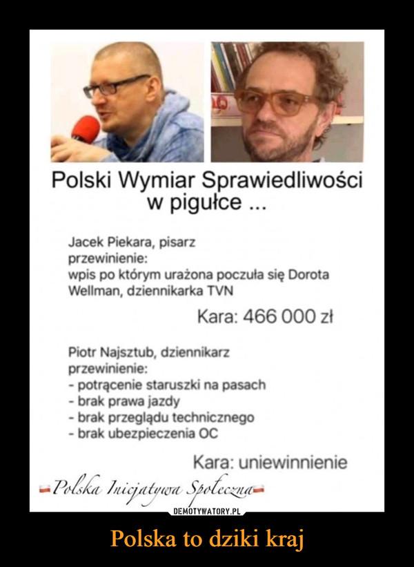 Polska to dziki kraj –
