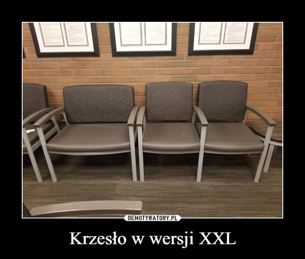 Krzesło w wersji XXL –