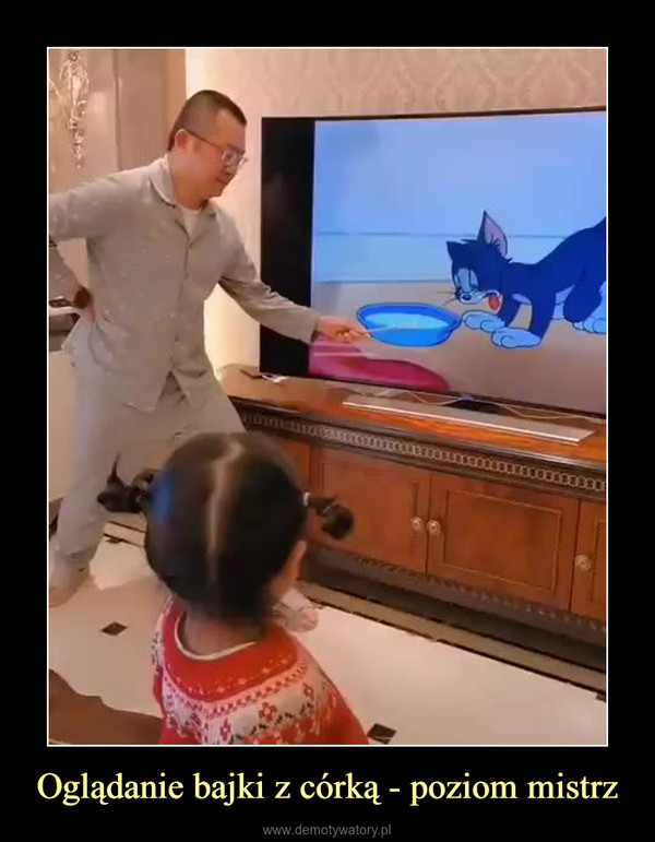 Oglądanie bajki z córką - poziom mistrz –