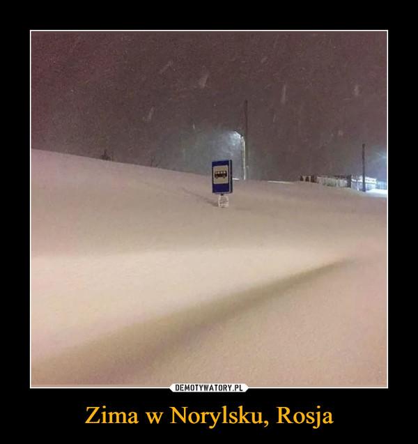 Zima w Norylsku, Rosja –