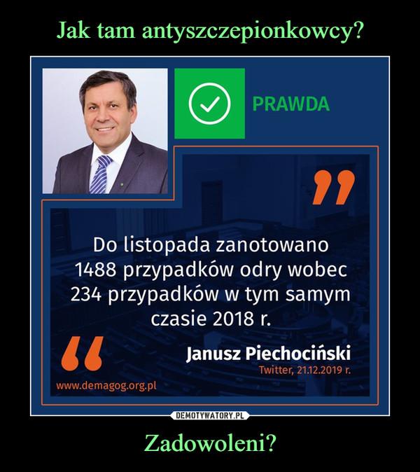 Zadowoleni? –  Prawda do listopada zanotowano 148 przypadków odry wobec 234 przypadków w tym samym czasie 2019 Janusz Piechociński