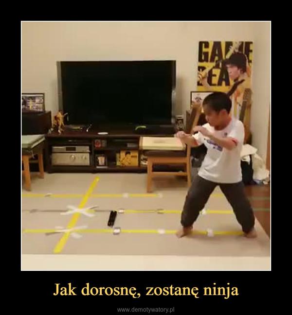 Jak dorosnę, zostanę ninja –