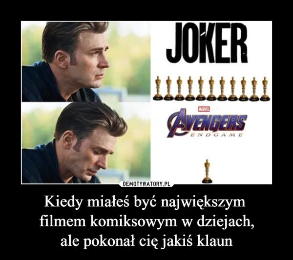 Kiedy miałeś być największym filmem komiksowym w dziejach,ale pokonał cię jakiś klaun –  Joker Avengers