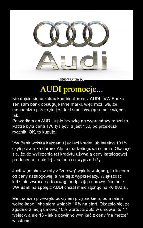 AUDI promocje...