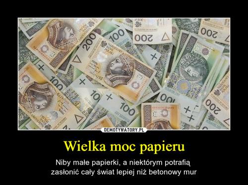 Wielka moc papieru