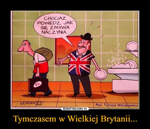 Tymczasem w Wielkiej Brytanii... –  CHOCIAŻ POWIEDZ JAK SIĘ ZMYWA NACZYNIA...