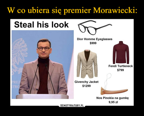 W co ubiera się premier Morawiecki: