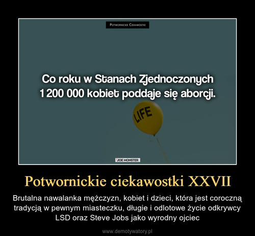 Potwornickie ciekawostki XXVII