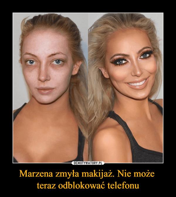 Marzena zmyła makijaż. Nie może teraz odblokować telefonu –