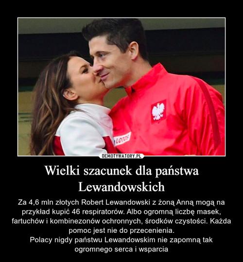 Wielki szacunek dla państwa Lewandowskich