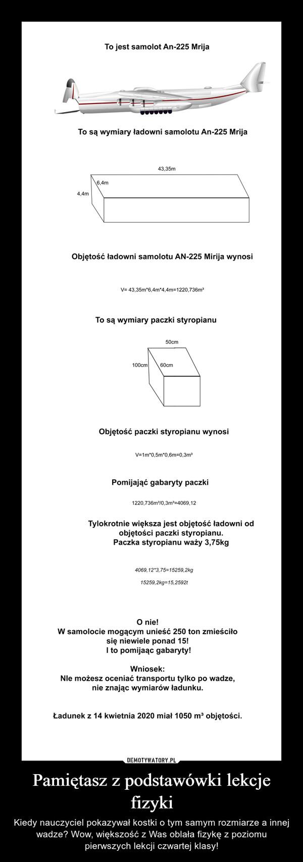 Pamiętasz z podstawówki lekcje fizyki – Kiedy nauczyciel pokazywał kostki o tym samym rozmiarze a innej wadze? Wow, większość z Was oblała fizykę z poziomu pierwszych lekcji czwartej klasy!